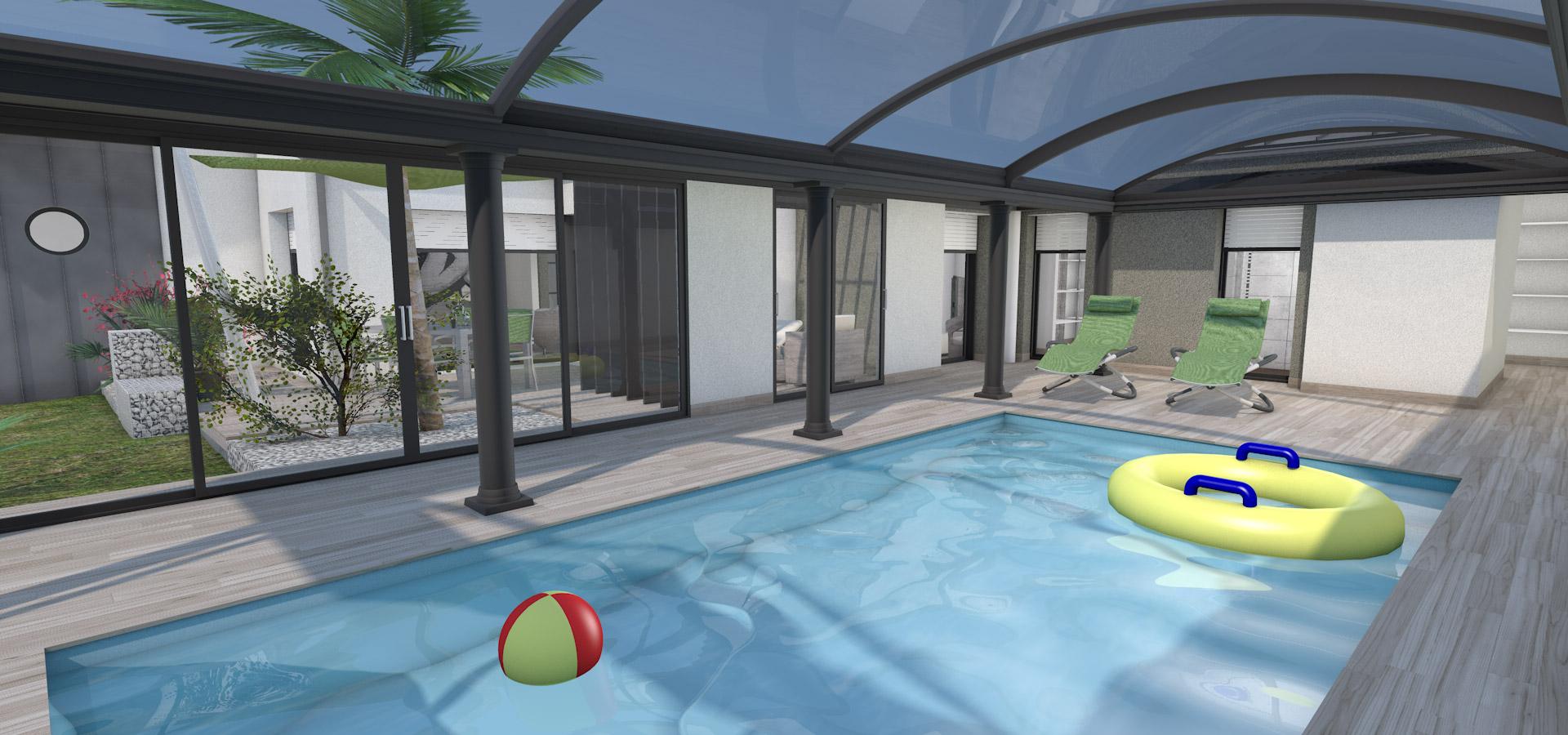 Nos r alisations serge ratouit habitat vend e for Abri piscine pool up